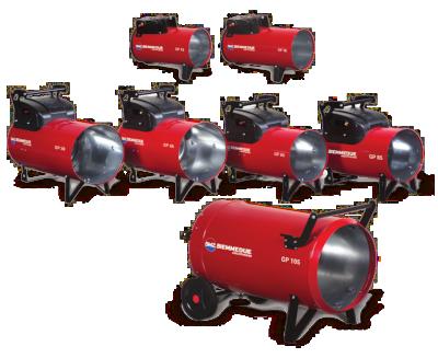 Serie GP - die manuell oder automatisch betriebenen Gasheizer